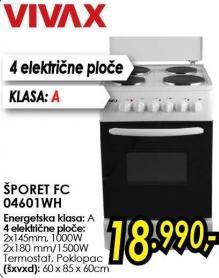 Električni šporet Fc 04601wh