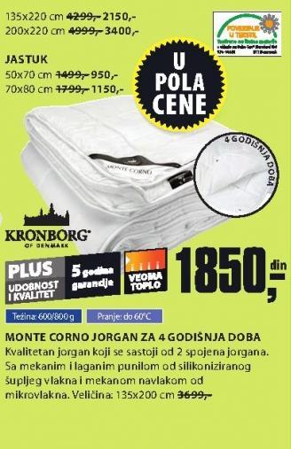 Jorgan Monte Corno za 4 godišnja doba 135x220