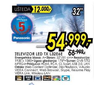 Televizor LED LCD TX-L32E6