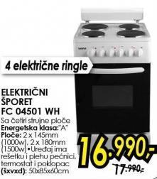 Električni šporet Fc 04501 Wh