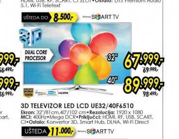 Televizor LED LCD UE-32F6510