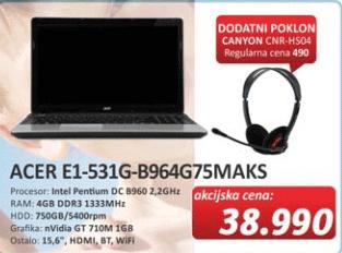 Laptop E1-531G-B964G75MAKS