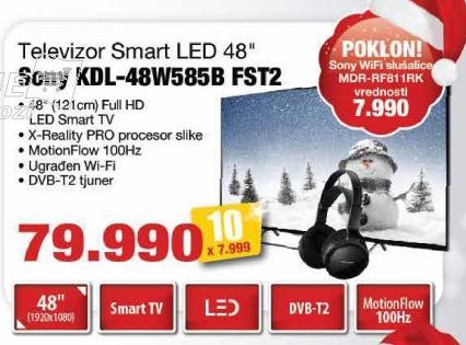 """Televizor LED 48"""" Kdl-48w585b Fst2"""