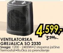 Ventilatorska Grejalica SO 2330
