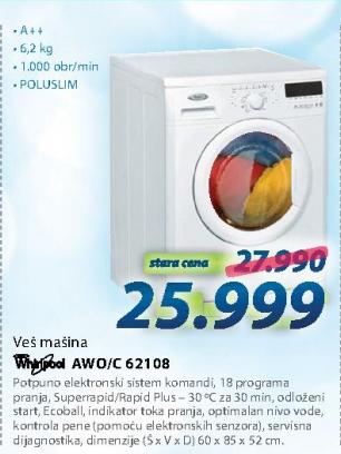 Veš mašina  AWO/C 62108