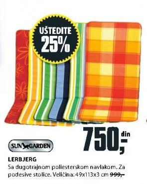 Baštenski jastuk Lerbjerg Sungarden