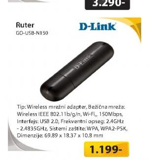 Wireless mrežni adapter GO-USB-N150