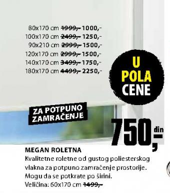Roletna Megan 90x210 cm