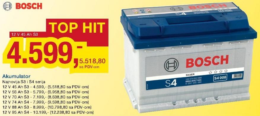 Akumulator 12 V 45 Ah S3