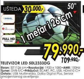 """Televizor LED 50"""" 50l2333dg"""
