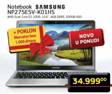 Notebook NP275E5V-K01HS