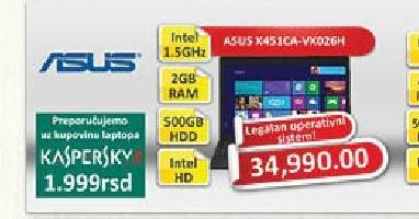 Laptop računar X451CA-VX026H