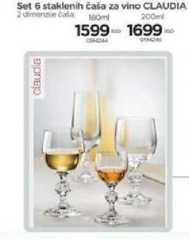 Set čaša Claudia za vino