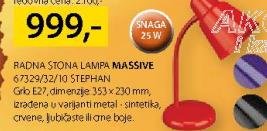 Radna stona lampa, Stephan 67329/32/10