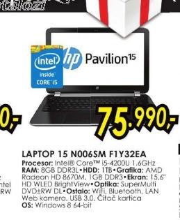 Laptop Pavilion 15-n006sm F1Y32EA