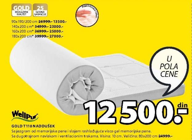 Naddušek Gold T110 80x200cm