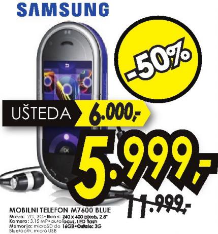 Mobilni telefon M7600 BLUE