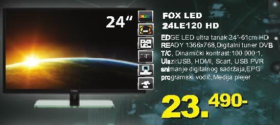 "Televizor LED 24"" 24LE120"