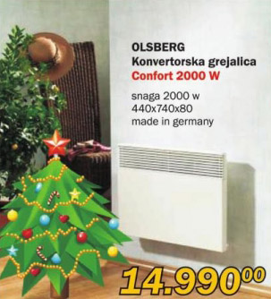 Konvektorska grejalica Olsberg Comfort 2000W