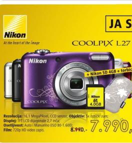 Fotoaparat Coolpix L27