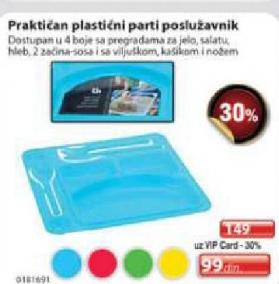 Plastični parti poslužavnik