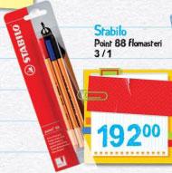 Stabilo Point 88 flomasteri 3/1
