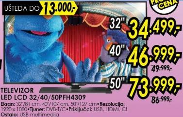 "Televizor LED 32"" 32pfh4309"