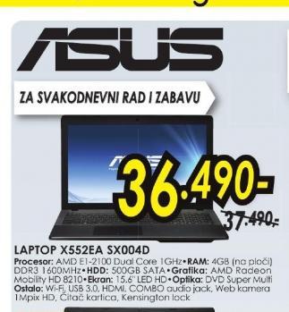 Laptop X552EA-SX004D