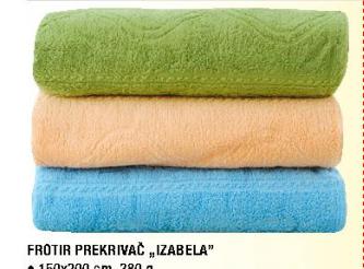 Frotir prekrivač ''Izabela'', 200x200cm