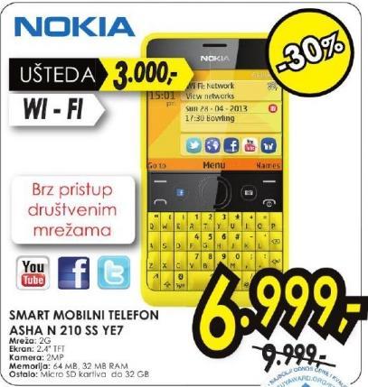 Mobilni telefon Asha N 210 Ss Ye7