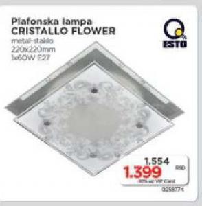 Plafonska lampa Cristallo Flower