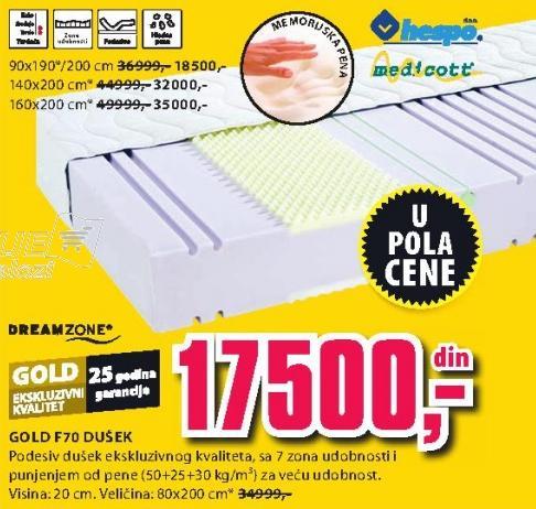 Dušek Gold F70 80x200