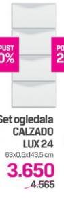 Set ogledala Calzado Lux 24