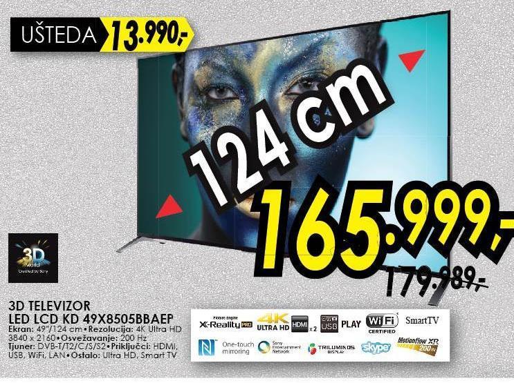 Televizor KDL49X8505BBAEP