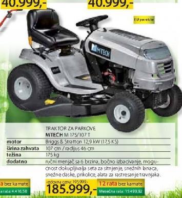 Traktor za parkove MTECH  M175 107T