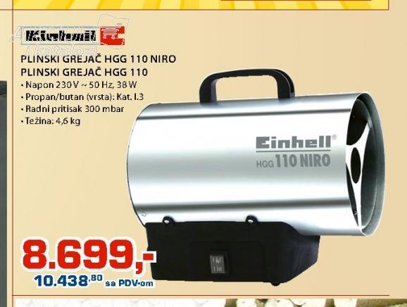 Plinski grejač HG 110 NIRO