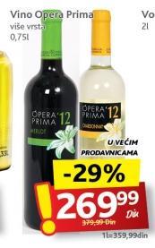 Crno vino Opera prima