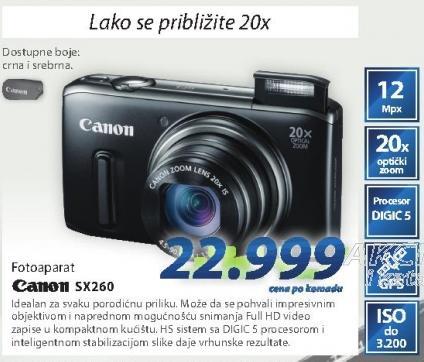 Digitalni fotoaparat Sx260