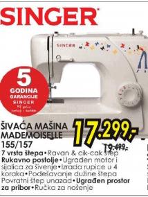 Šivaća mašina MADEMOISELLE 155/157