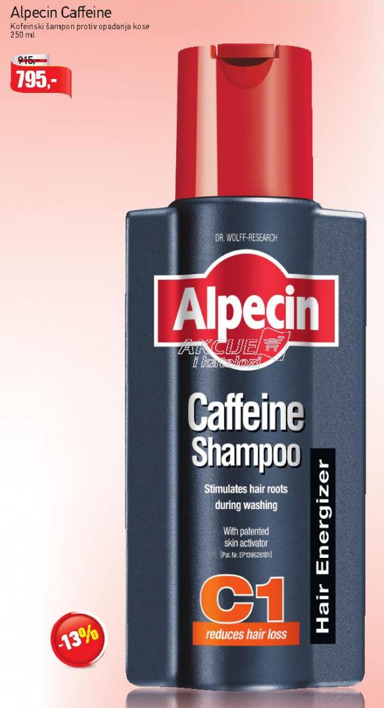 Kofeinski šampon protiv opadanja kose Alpecin