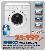 Mašina Za Pranje Veša WKB 61021 M