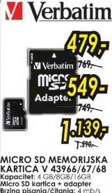 Micro SD memorijska kartica 8GB V 43967