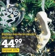 Božićna dekoracija cipelica