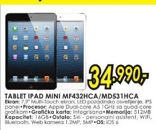 Tablet iPad Mini MF432HC/A