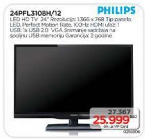 "Televizor LED 24"" 24pfl3108h/12"