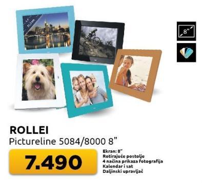 """Digitalni ram za slike Pictureline 5084/8000 8"""" Rollei"""
