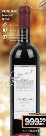 Crno vino Prokupac
