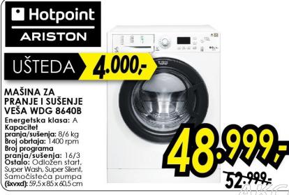 Mašina za pranje veša WDG 8640B