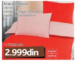 Krep posteljina