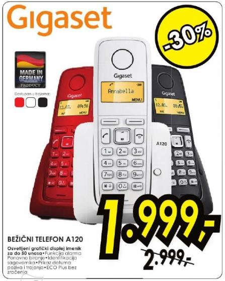 Bežični telefon A120 Gigaset
